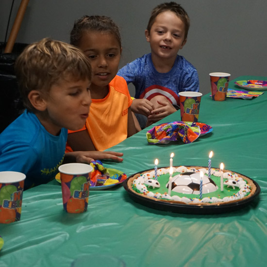 THE EXPLOSION PARTY—Ages 6 and Up